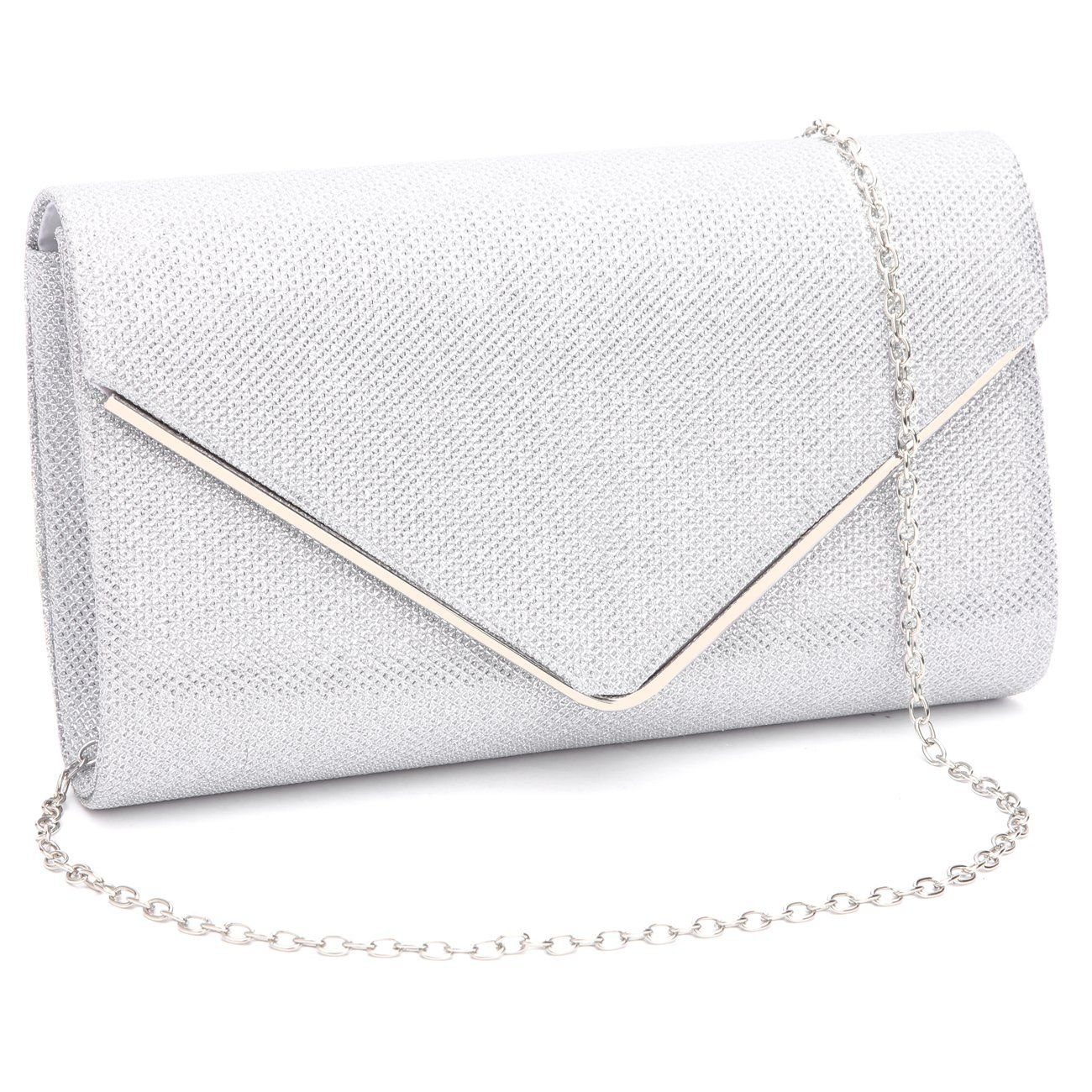 Luxury Women Glitter Clutch Handbag Bag Evening Bridal Wedding Pouch Prom Bag