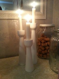 Spraypainted candlestick