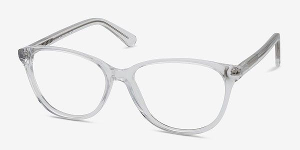 23f2d11aec Hepburn Clear White Acetate Eyeglasses from EyeBuyDirect. A fashionable  frame with great quality and