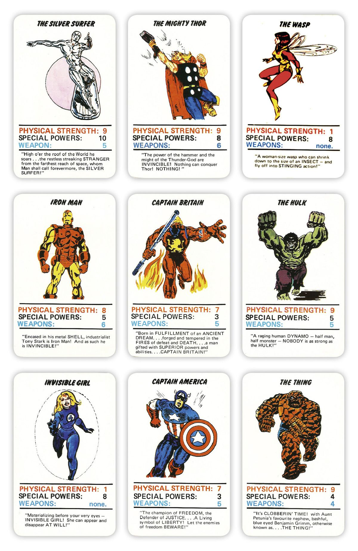 Marvel Superheroes Top Trumps