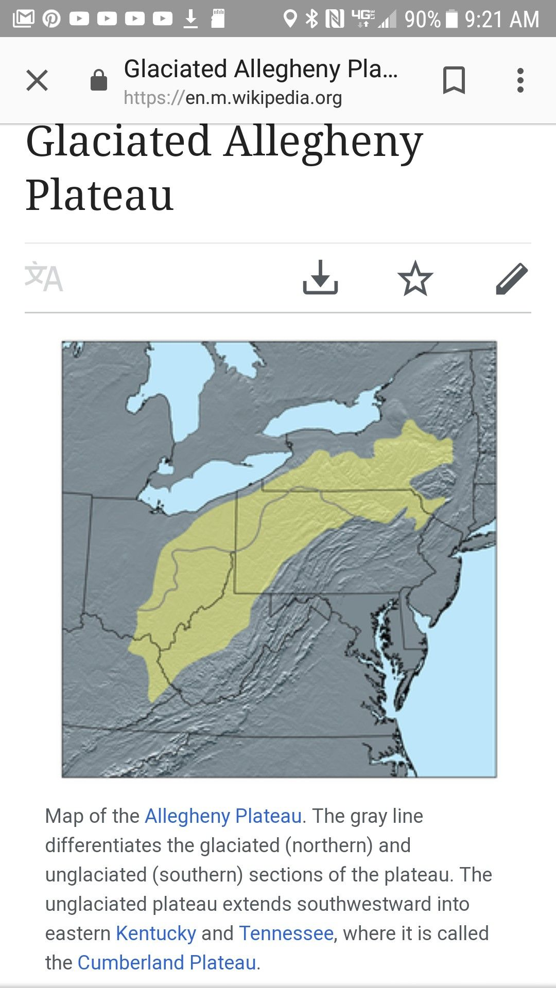 Glaciated Allegheny plateau | Cumberland plateau, Kentucky, Map