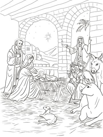 Shepherds Come To See Baby Jesus Coloring Page Jesus Coloring Pages Nativity Coloring Pages Coloring Pages
