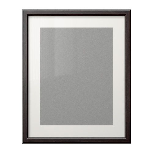 gunnabo frame 16x20 ikea l frame is brown not black and has