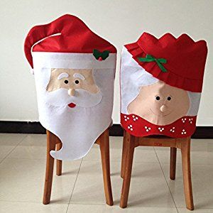 Amazon 2 Pcs Christmas Dining Room Chair Cover Seat Back Coat Home