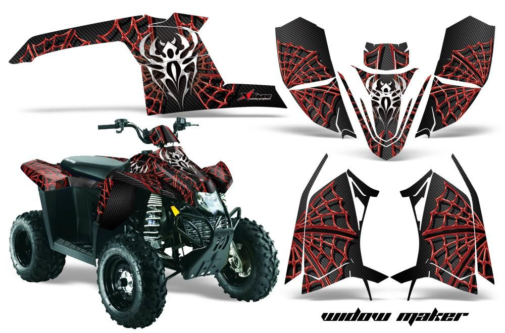 CreatorX Polaris Outlaw 450 500 525 Graphics Kit Decals Stickers Bolt Thrower Red