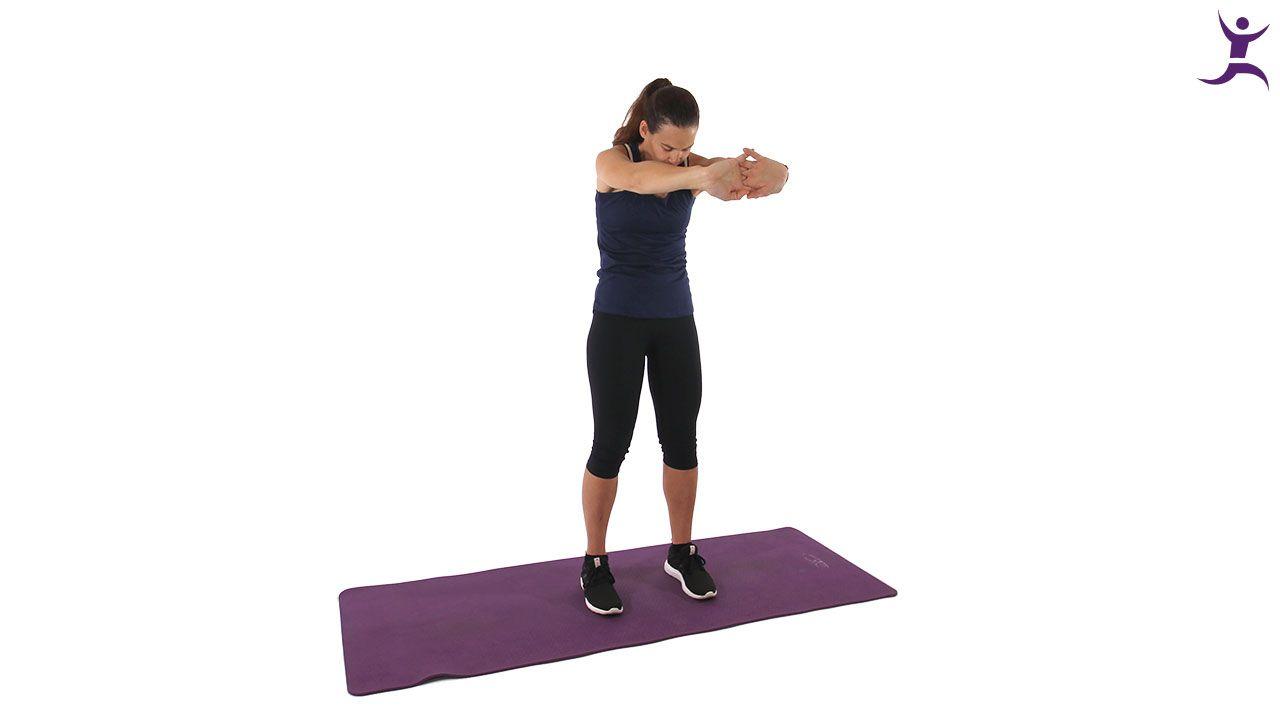 Schultern und Oberen Rücken dehnen - Nacken schmerzen..