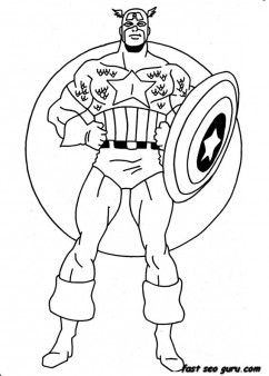 Print Out Captain America Coloring Pages Printable Coloring