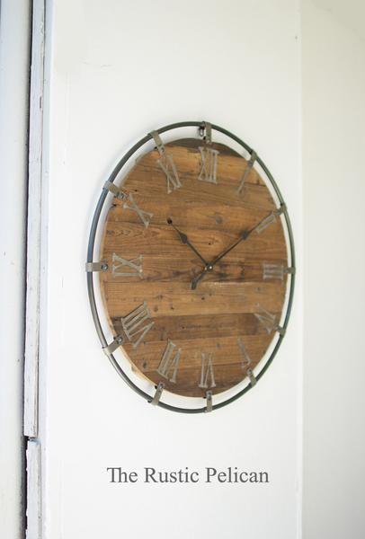 Large wall clocks Rustic Furniture Pinterest Farmhouse Decor