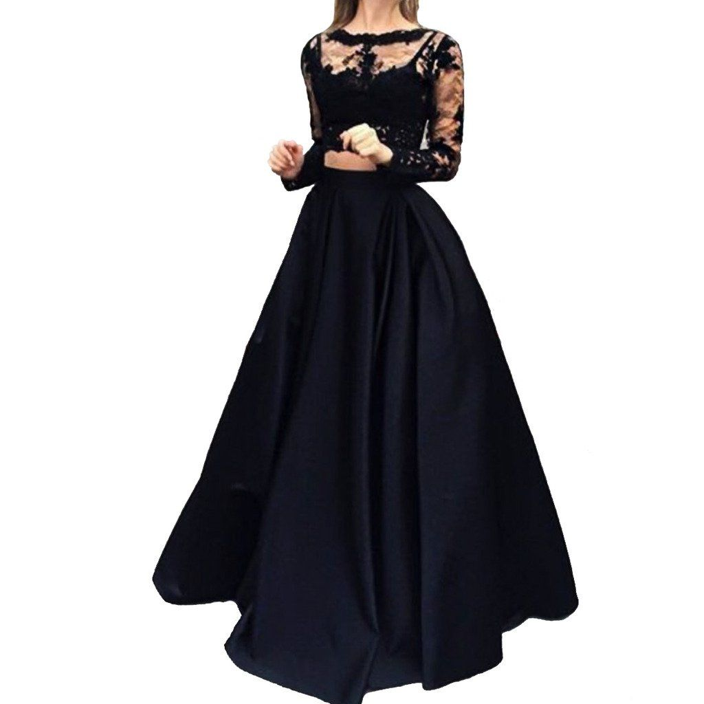 Cuteshe womenus pieces long sleeves prom evening dresses please