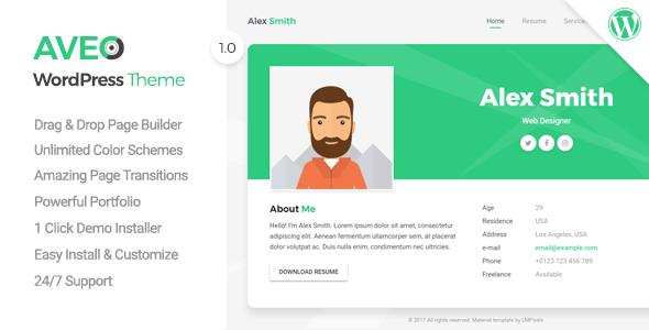 Download Aveo v1.0.1 - Creative Resume/CV/vCard/Portfolio - https ...