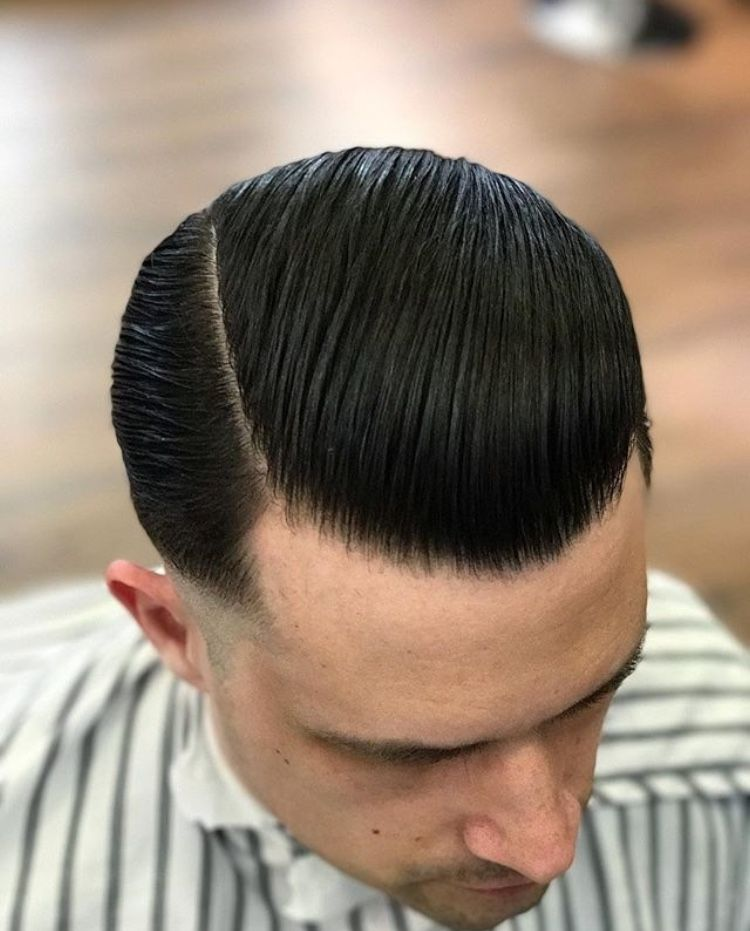 Haircut Gentleman Haircut Pomade Hairstyle Men Slick Hairstyles