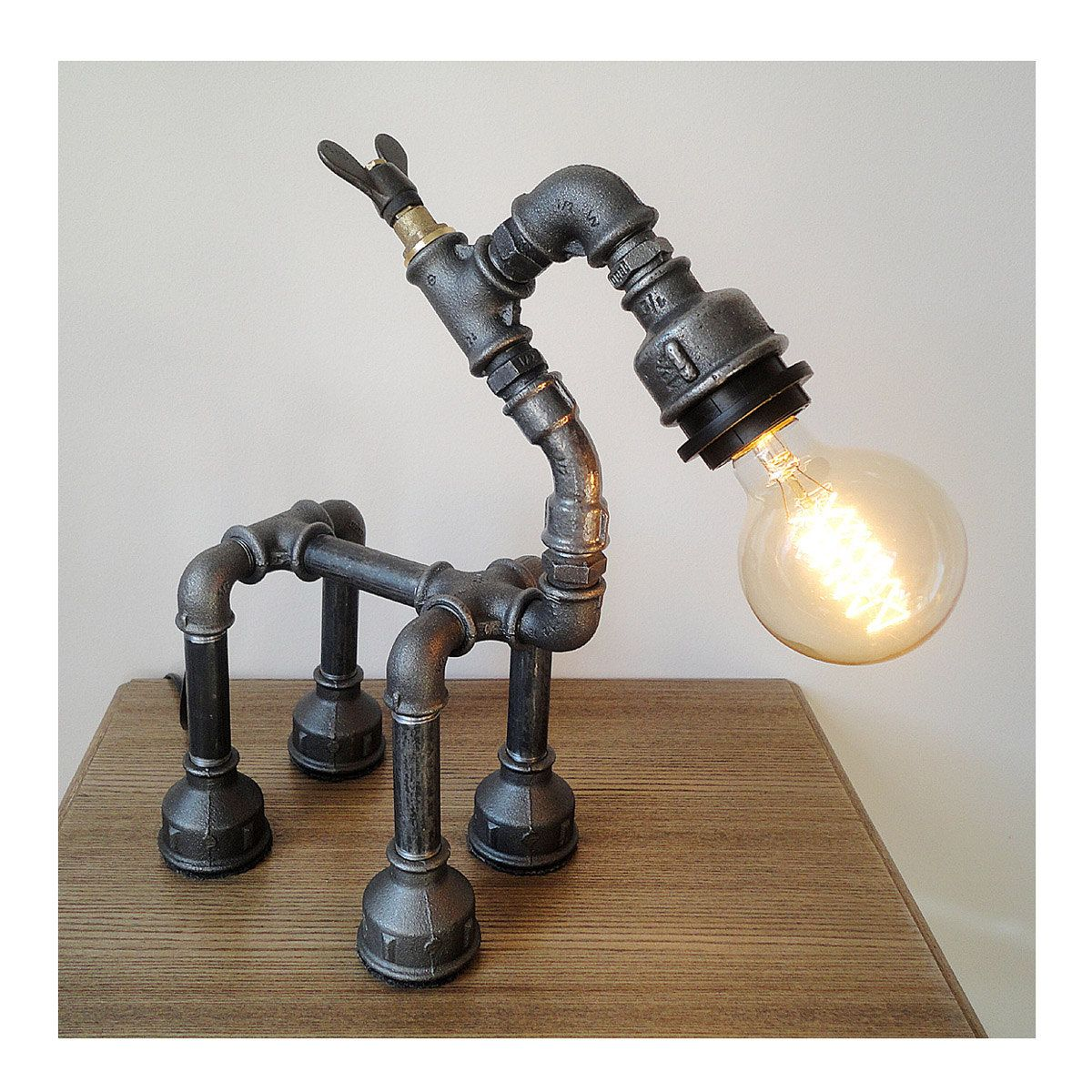 Fumat Table Lamp Black White Puppy Desk Lamps Design Animals Table Light Vintage Art Deco Dogs Table Lamps For Livingroom Easy To Lubricate Led Lamps