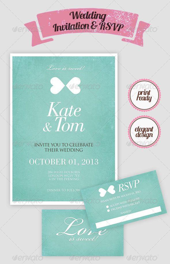 Elegant Wedding Invitation \ RSVP Card Elegant Wedding   Free Rsvp Card  Template  Free Rsvp Card Template