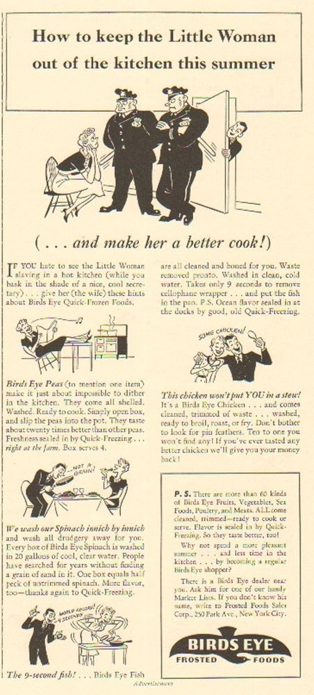 1939 birds eye frosted foods keep little women out of the kitchen decor print ad in collectables advertising food ebay