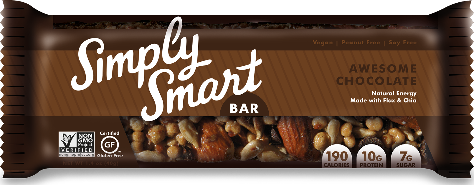 10g vegan protein, gluten free & Non-GMO. A simple healthy energy bar that is low in sugar and truly delicious. Made very simply with high quality whole foods ingredients.