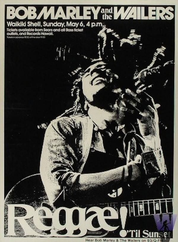 Bob Marley & the Wailers concert poster