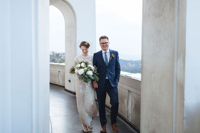 Early Morning Griffith Park Observatory Elopement Jane Adam Green Wedding Shoes Griffith Observatory Wedding Wedding Photography And Videography Wedding