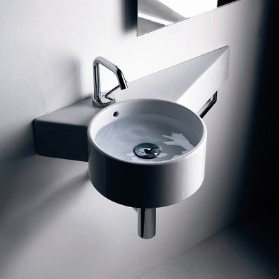 Tao Ceramic 12 Wall Mount Bathroom Sink With Overflow Bathroom Sink Wall Mounted Bathroom Sinks Ws Bath Collections