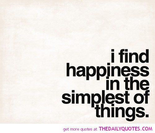 quotes about being simple and happy