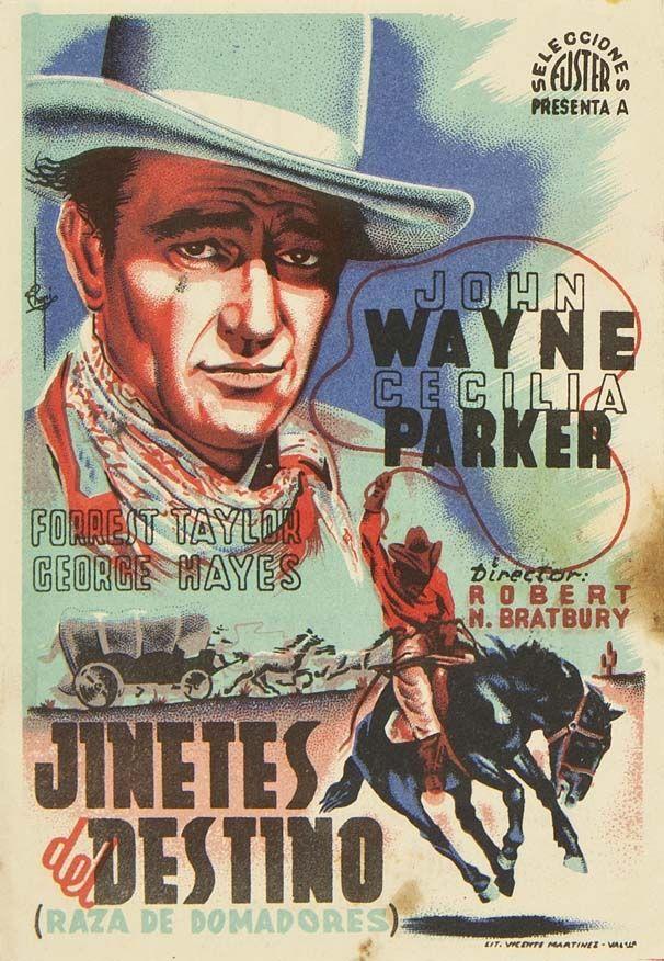 """Programa de mano de cine de la película """"Jinetes del destino"""", estrenada en España en el año 1933"""