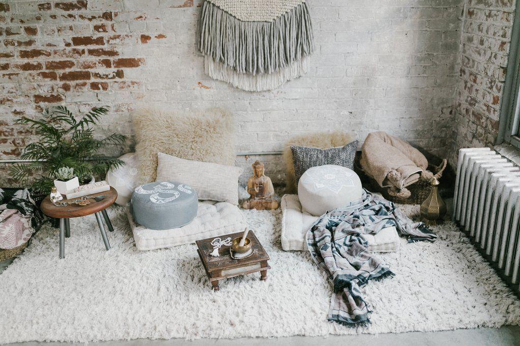 How To Make A Home Meditation Space Yoga Room Decor Home Yoga Room Meditation Room Decor