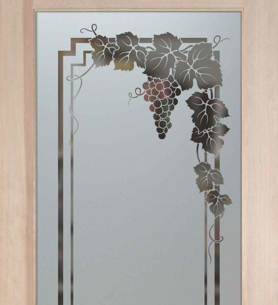 Vineyard Grapes Pantry Door Garland Design Pantry Doors Glass