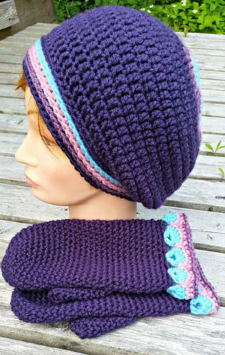 Ocean Breeze Slouch Hat and Matching Mittens pattern by ...
