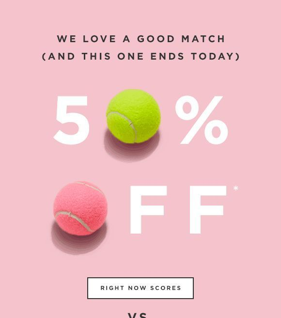 A Beautiful Sale Reminder Email Design With Animated Gifs Pastels
