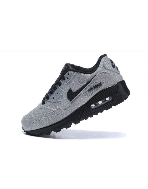 Nike Women Air Max 90 Shoes Glitter Grey 659A  8c0493e026