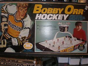 Rod Hockey Table Bobby Orr Munro Tin Table Top Rod Hockey Game With Original Box Ebay Bobby Orr Hockey Games Hockey