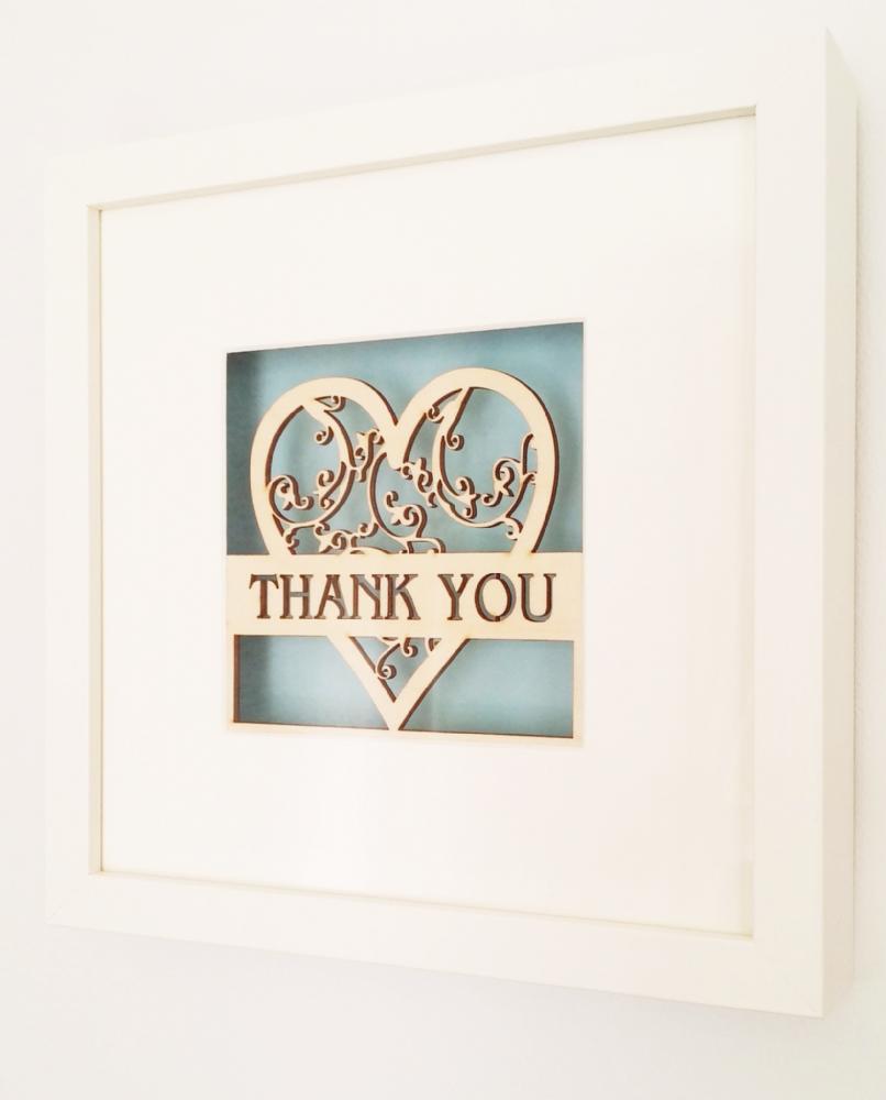 This beautiful framed laser cut filigree heart makes the perfect this beautiful framed laser cut filigree heart makes the perfect thank you gift each white box jeuxipadfo Choice Image