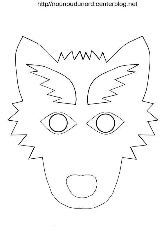 Masque loup imprimer les fichiers tous mes masques ici mardi - Masque de loup a fabriquer ...