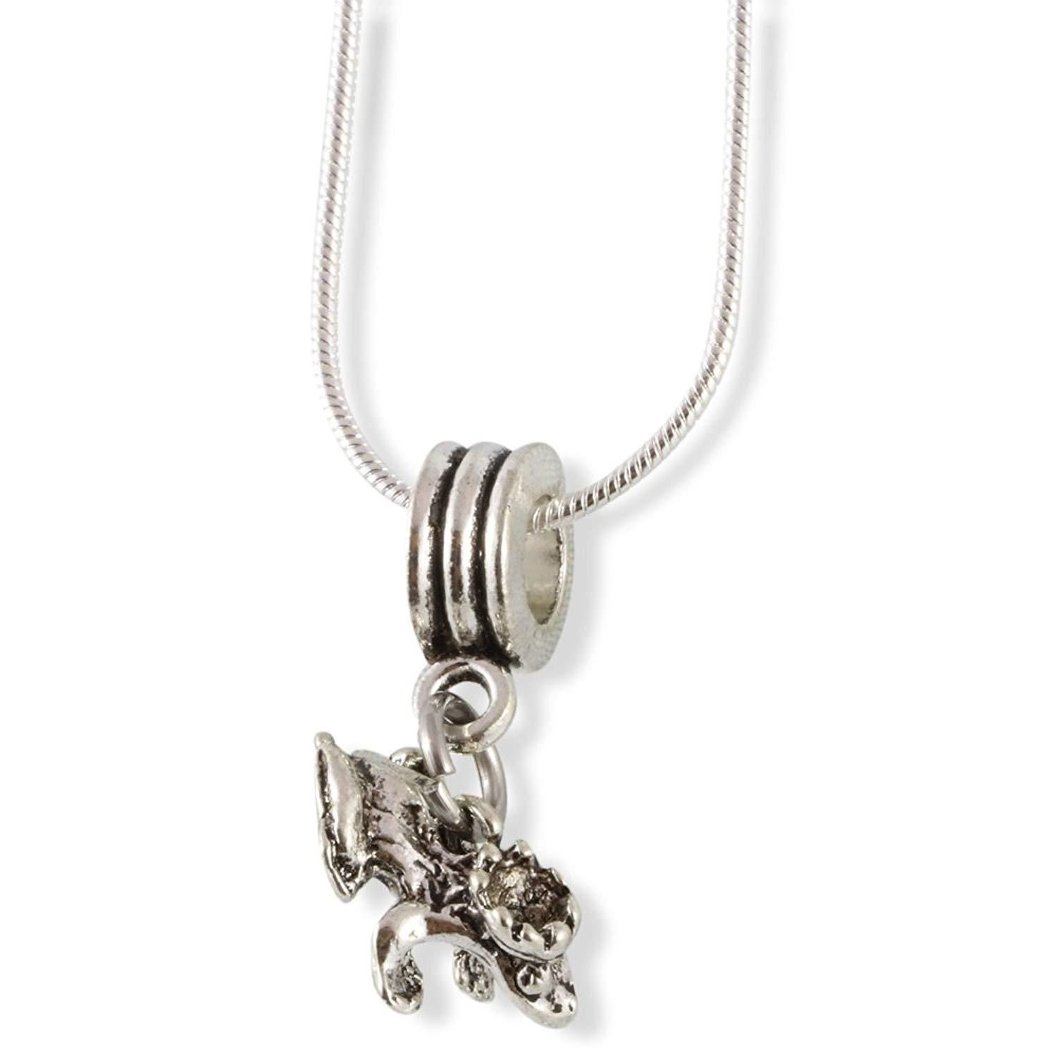 Frog Prince with Crown Snake Chain Necklace Chain