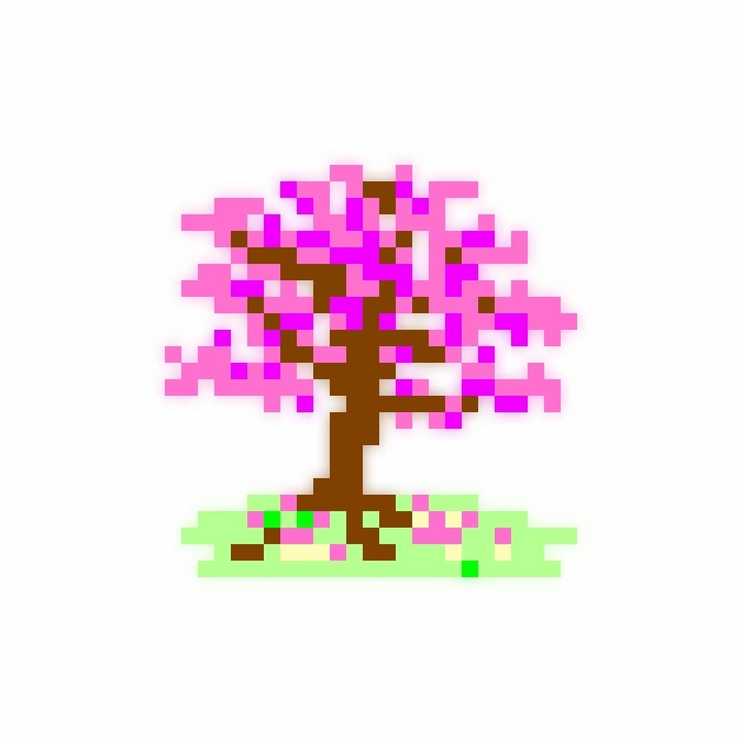 Today S Player Favorite Cherry Blossom Tree By Avacado1owo It Got 70 Likes From Falcross Players And Its C In 2020 Daily Puzzle Cherry Blossom Tree Logic Games