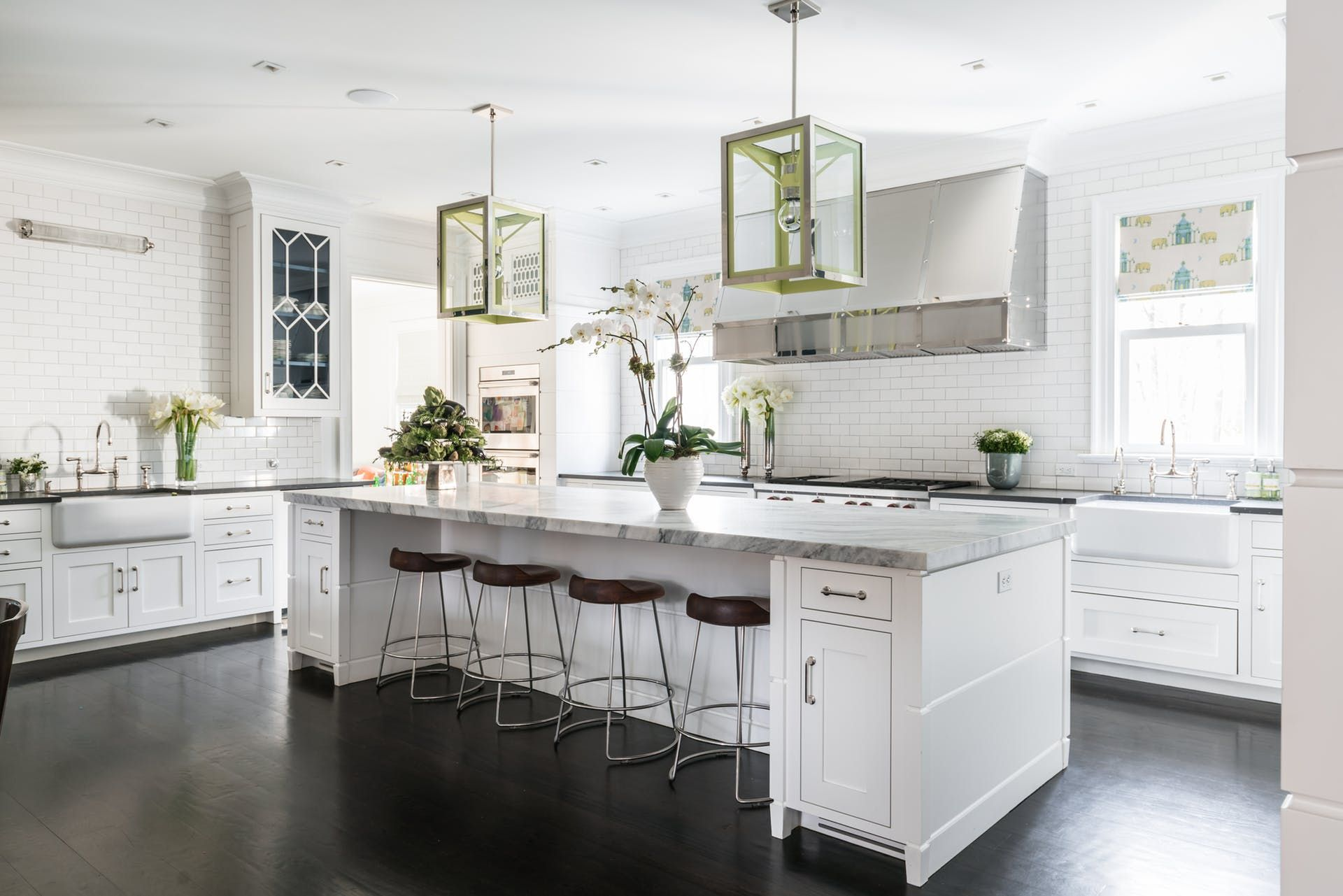 Large Kitchen Island with Seating & Storage, Marble ...