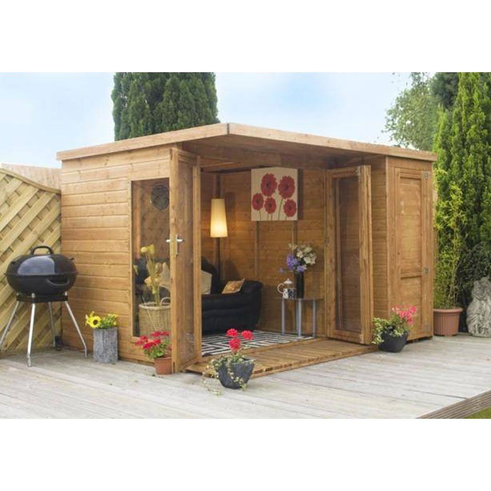 Backyard Corner Ideas: Mercia Garden Room 10ft X 8ft Brown