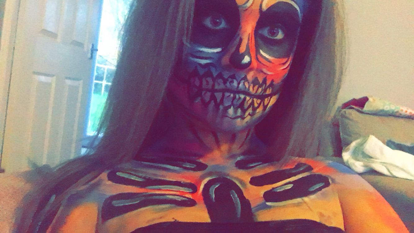Skeleton makeup by me