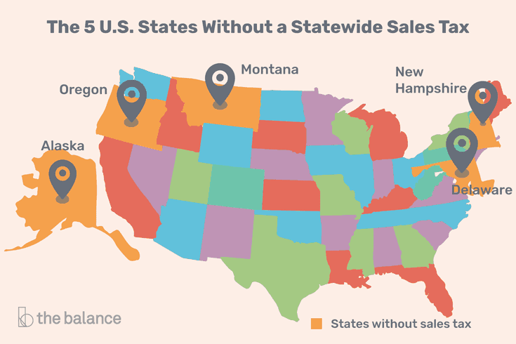 Tired Of Paying Sales Tax These States Charge Less Sales Tax State Tax Tax Forms