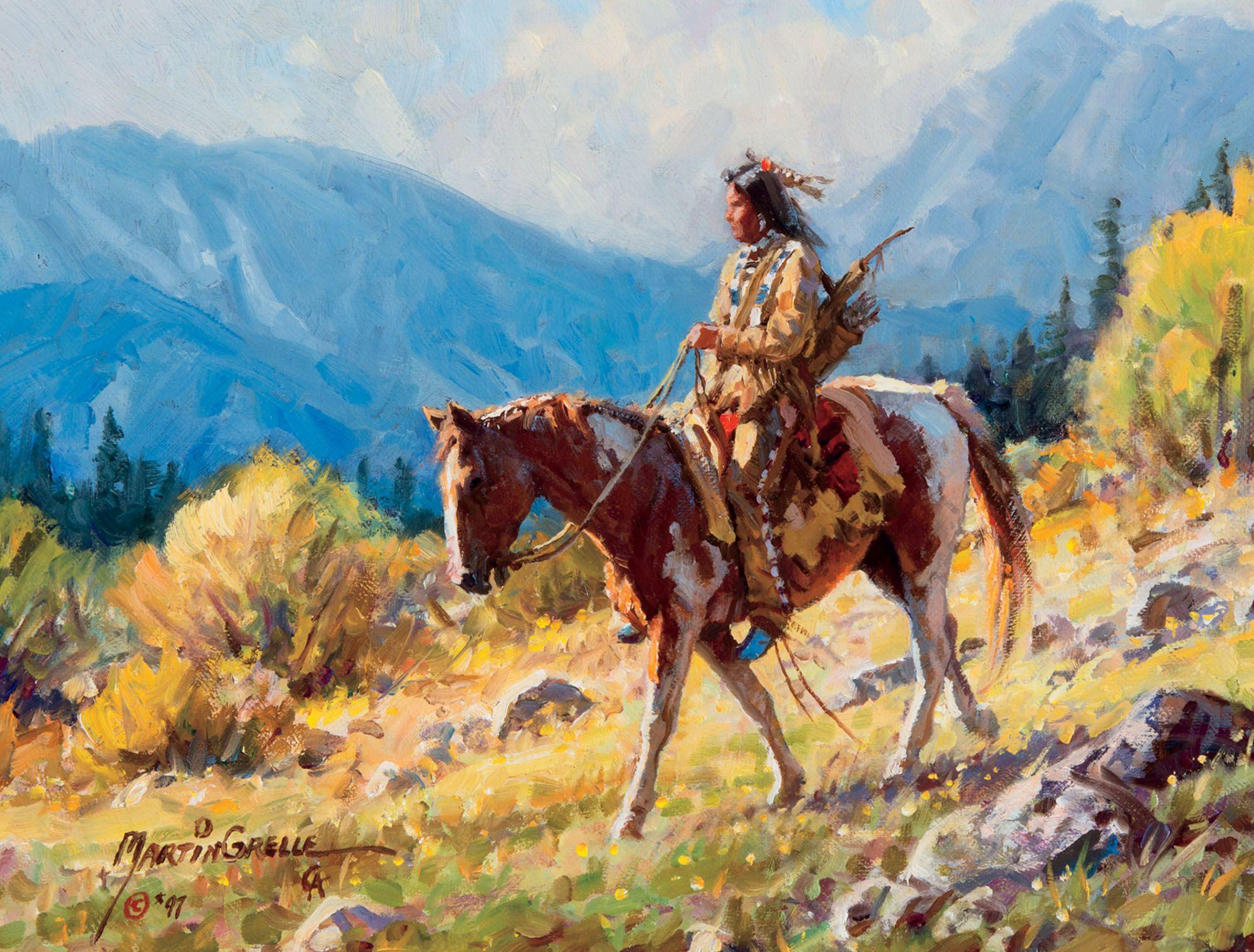 Rides Elk Dog Native American Art