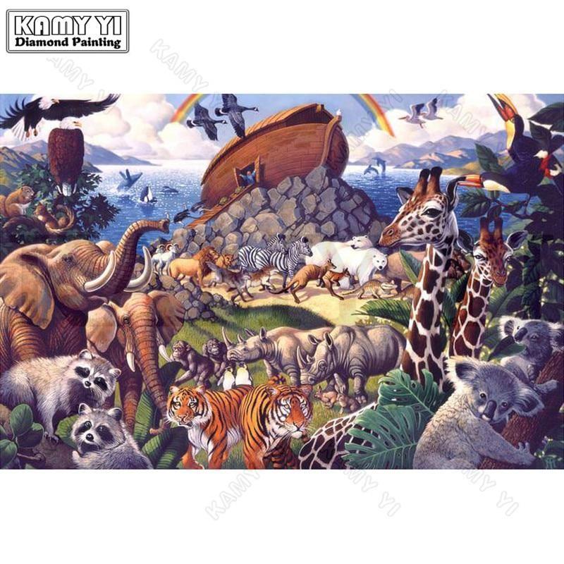 Noah S Ark Animal World 5d Diamond Painting Kit 5d Diamond