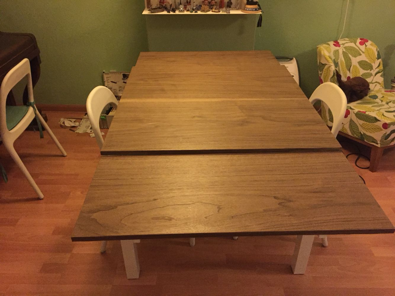 Ikea Hack Bjursta With European Walnut Veneer Dining Table Redo Diy Dining Room Table Diy Dining Room