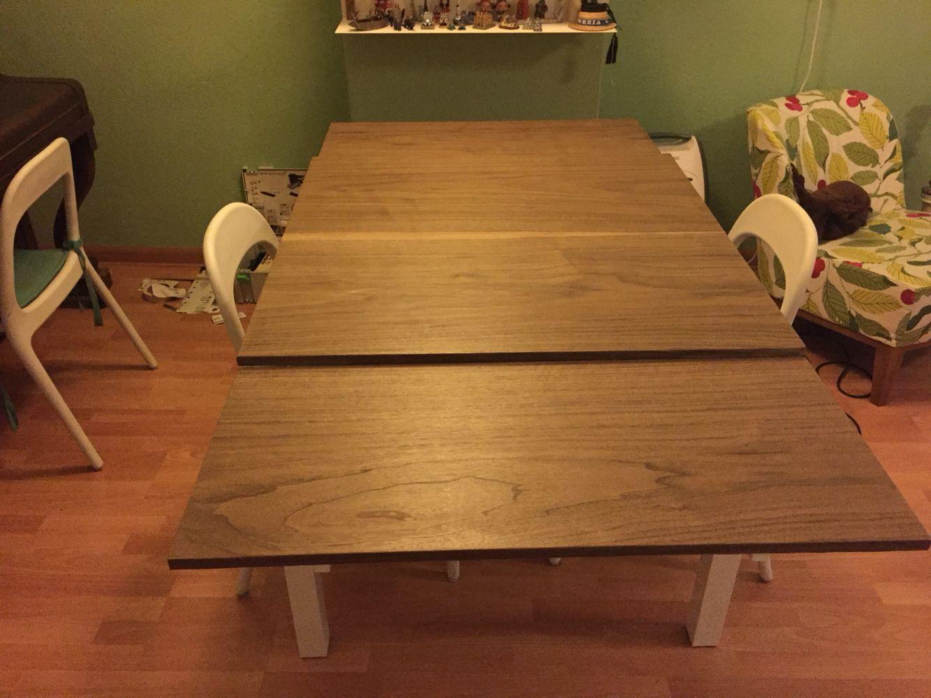 Ikea Hack Bjursta With European Walnut Veneer Dining Table Redo Diy Room