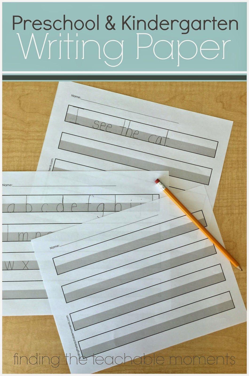 Preschool And Kindergarten Writing Paper Education