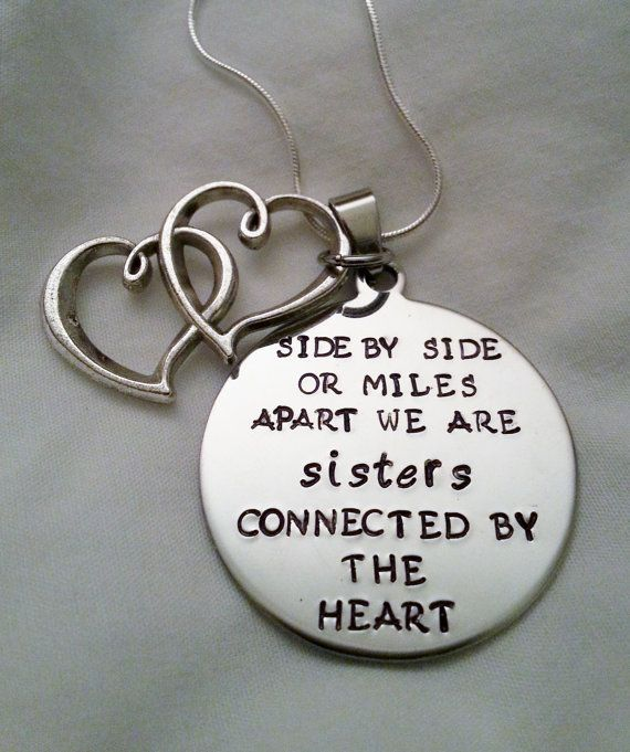 Cute Sisters Quote Side By Side Or Miles Apart We Are Sisters