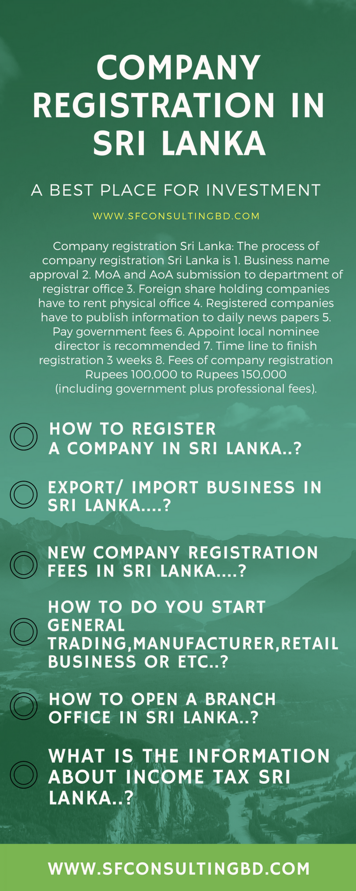 Company Registration In Sri Lanka Infographic Registration