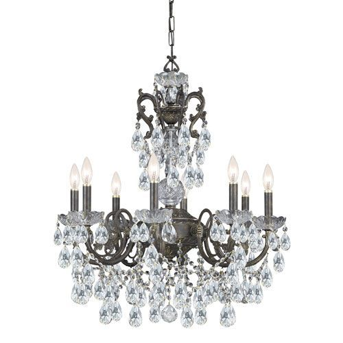 Crystorama Lighting Group Legacy English Bronze 26 Inch Eight Light Chandelier…