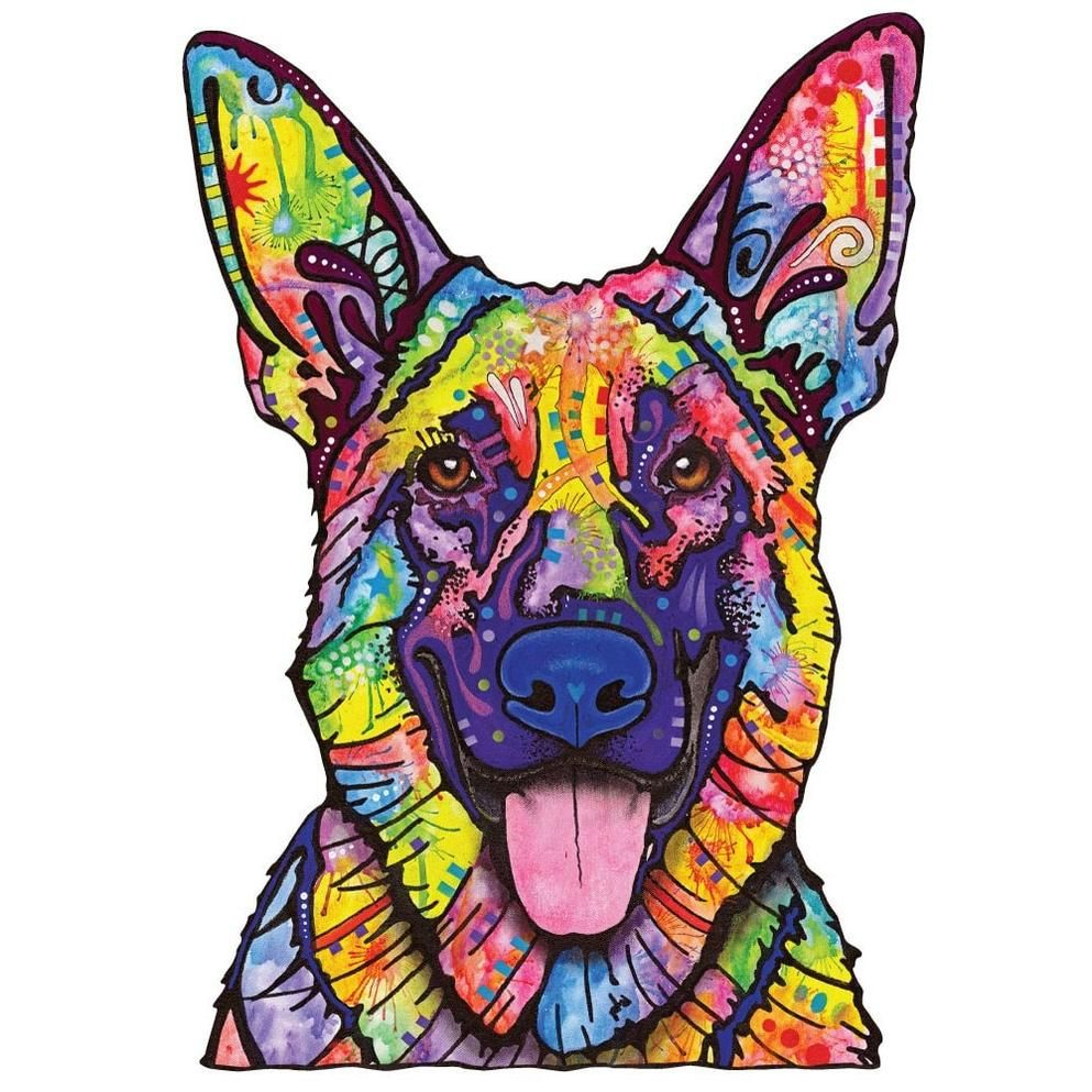 Dogs never lie german shepherd wall decal cut out animal pop art by