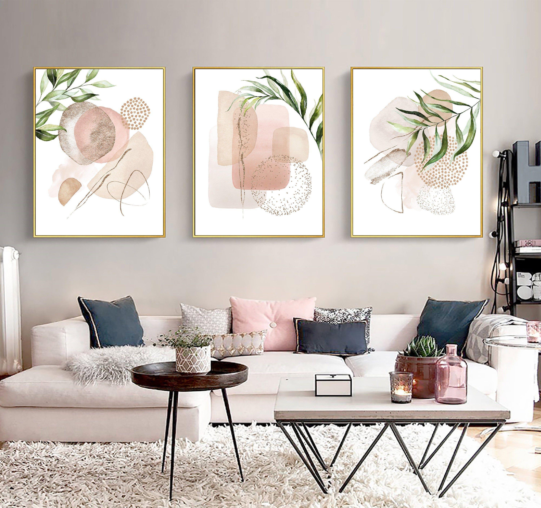 Abstract Art Set Printable Download Modern Abstract Art Etsy In 2021 Living Room Art Living Room Art Prints Wall Art Living Room