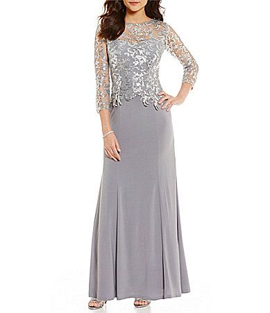 37d2af243fa Cachet Sequin Embroidered Lace Bodice Gown  Dillards