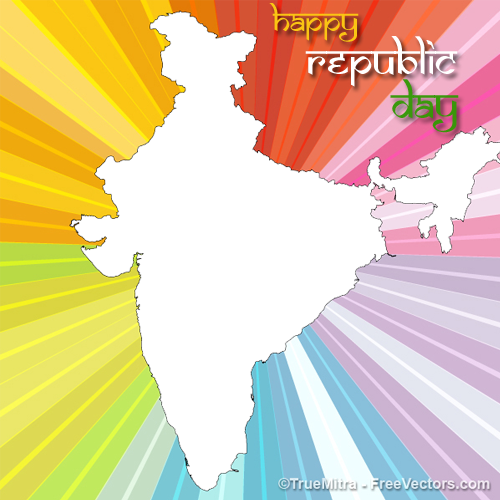 Create Happy Republic Day Abstract Art Frame With Your Photo
